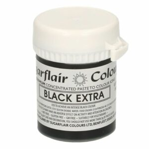 Sugarflair Hochkonzentrierte Pastenfarbe Schwarz EXTRA 42 g