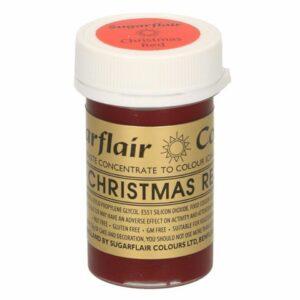 Sugarflair Pastenfarbe Weihnachtsrot 25 g