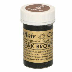 Sugarflair Pastenfarbe Dunkelbraun 25 g