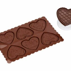 Silikonform Cookie Hearts V01