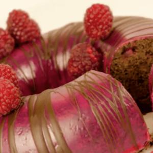 Schoko Himbeer Donut